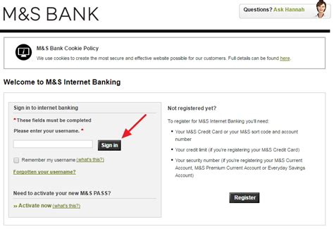 marks and spencer bank marks spencer banking sign in login
