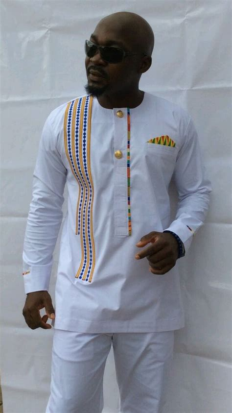 african wear dresses for men odeneho wear men s polished cotton top embroidery and