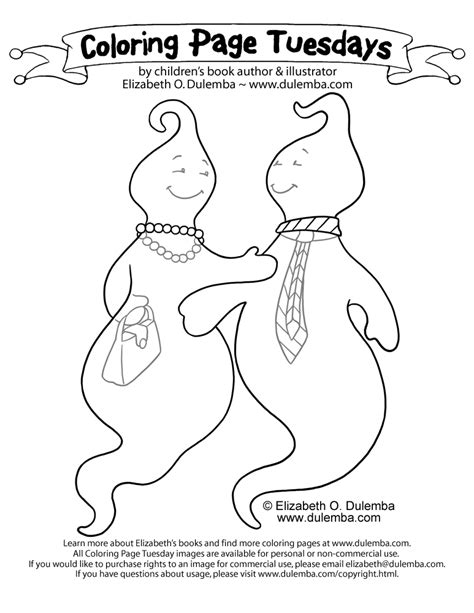 coloring page tuesday dulemba coloring page tuesday ghosties