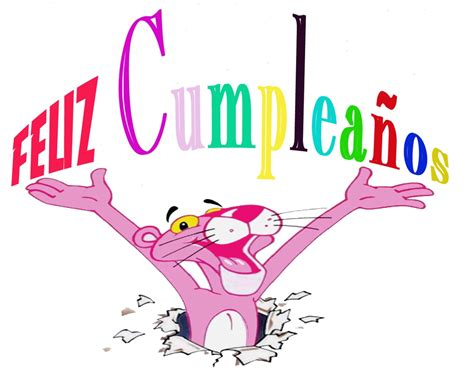 imagenes feliz cumpleaños rosa feliz cumplea 241 os pantera rosa imagui