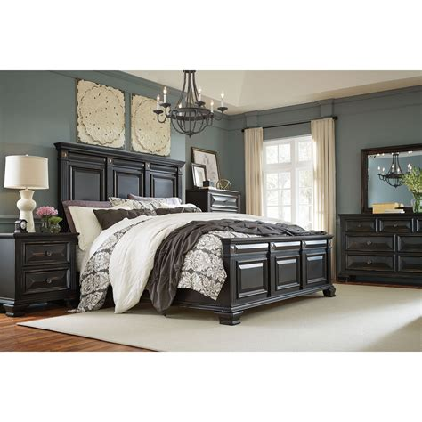 cambridge heritage  piece bedroom suite king bed dresser mirror chest  nightstand