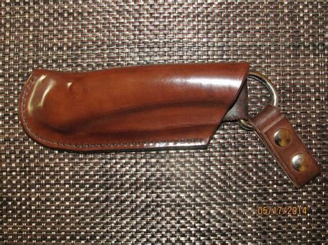 draw sheath crafted brown leather left side draw sheath for bahco