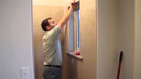 onyx shower installation window sill  casing trim