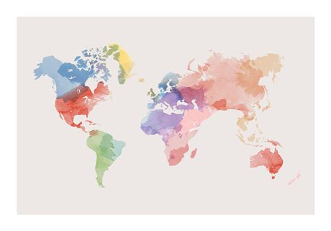 free map graphics watercolor world map vector free vector