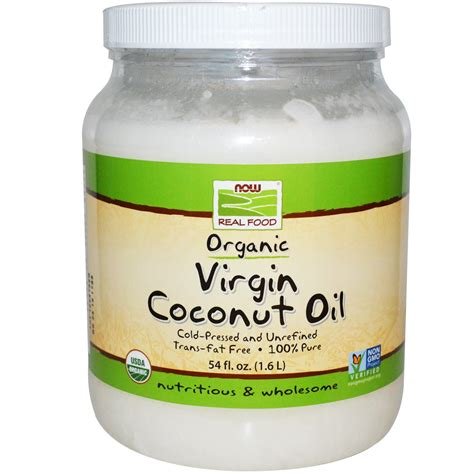 coconut oil americas best source for buying coconut oil virgin coconut oil organic 54 oz now real food