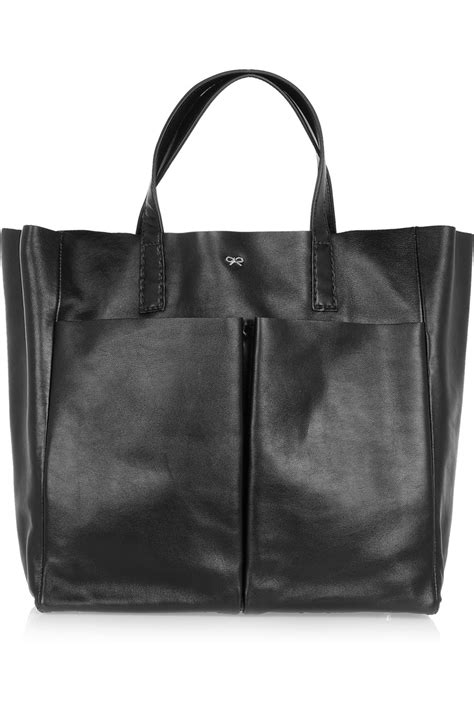 Anya Hindmarch Large Nevis Tote by Lyst Anya Hindmarch Nevis Leather Tote In Black