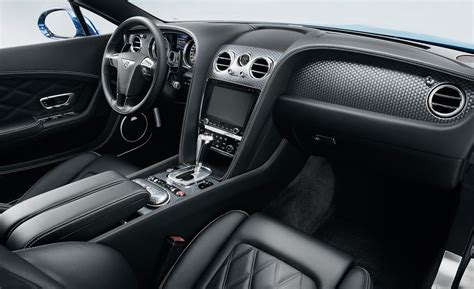bentley black interior car and driver