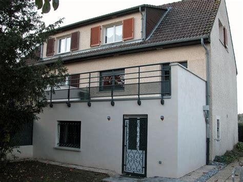 Extension Terrasse Beton by Extension Avec Terrasse Sur 233 Lev 233 E 224 Metz 57 Evolubat