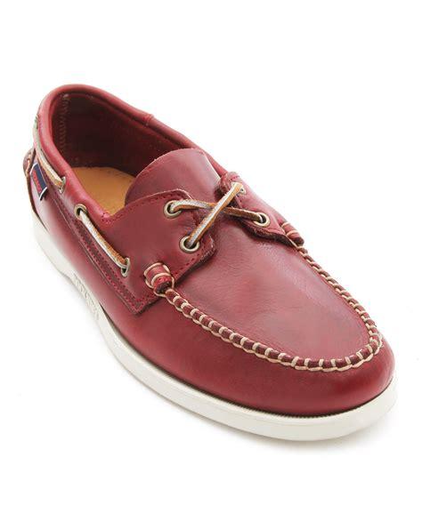 burgundy shoes sebago horween burgundy leather boat shoes in for