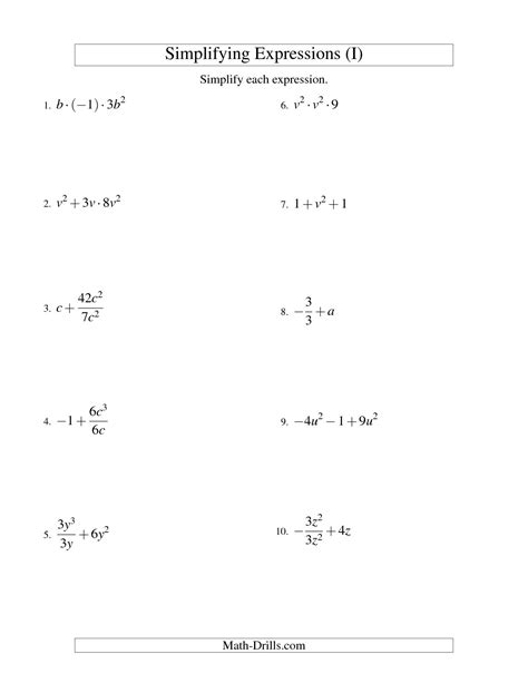 Evaluating Variable Expressions Worksheets by 14 Best Images Of Algebra Variables And Expressions