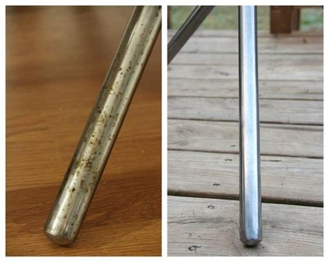 how to clean rust chrome table legs how to remove rust from metal i just brought home a