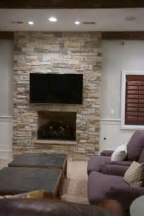 Dry Stack Stone Veneer Fireplace   Traditional   Living Room   Chicago   by North Star Stone