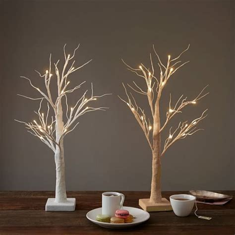 table top trees with lights led tabletop trees elm