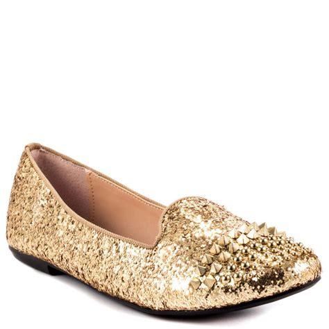 gold glitter flat shoes betsey johnson bambbi gold glitter shoes shoesposs