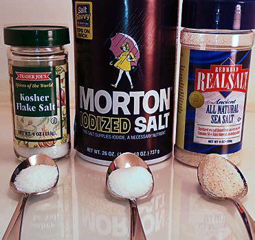 is kosher salt the same as table salt the difference between kosher salt sea salt table salt