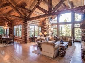 Log Cabin Open Floor Plans by Open Floor Plan And Of Light Log Timber Frame