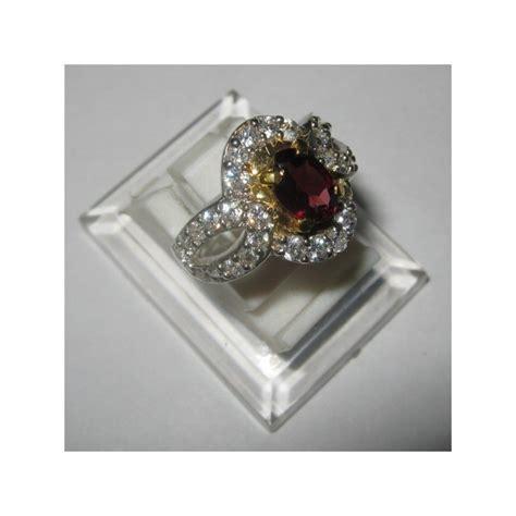 promo cincin wanita silver 925 almandite garnet ring 6us