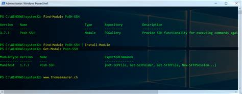 for ssh using ssh with powershell maurer