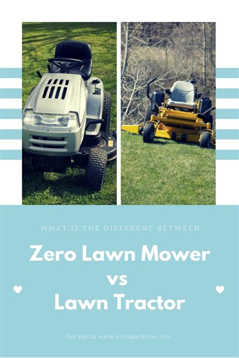 zero turn vs lawn tractor what is the difference sumo