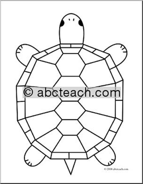geometric turtle coloring page clip art cartoon turtle 1 coloring page abcteach