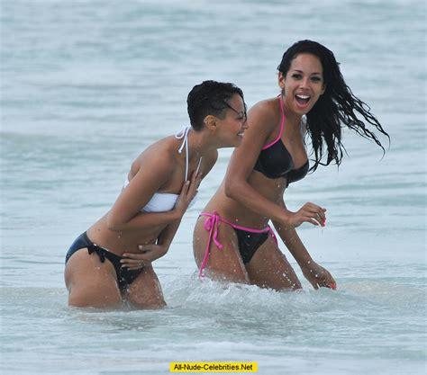 sugababes in bikini on the beach in barbados candids