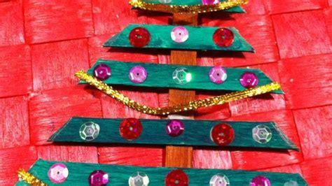 decoracion arbol de navidad manualidades estrella de navidad manualidad con palos de helado