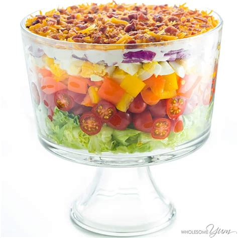 easy salad recipes 7 layer salad recipe with mayonnaise easy