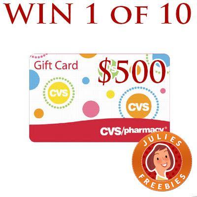 Cvs Gift Cards List - win a 500 cvs gift card 10 winners julie s freebies