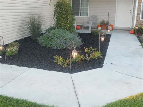 black landscaping rubber mulch landscaping wolverine rock and mulch