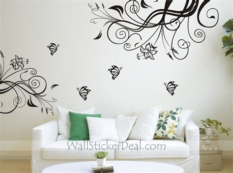 butterfly and flower wall stickers butterfly wall stickers roselawnlutheran