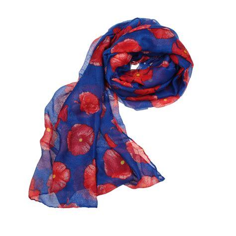 new poppy print scarf flower wrap stole shawl pop ebay