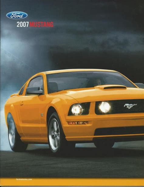 07 Mustang Gt Specs by Sell 2007 07 Ford Mustang Brochure Gt 500 Shelby