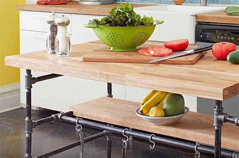 diy kitchen island granite top diy butcher block kitchen diy project how to build a butcher block island