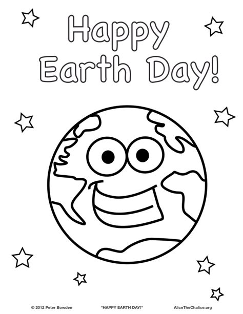 happy earth day coloring page alice the chalice