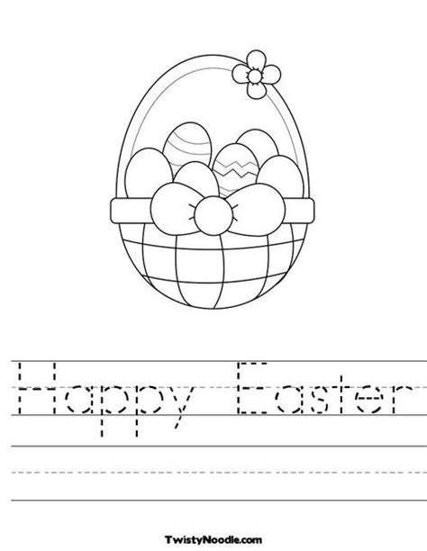 worksheets for preschool easter happy easter worksheet classroom ideas pinterest