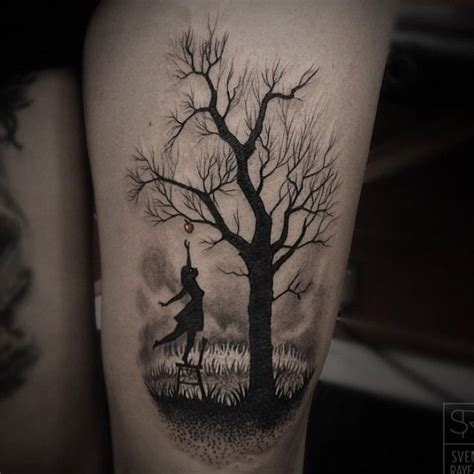 dark forest tattoo small moon and forest tree tattoos on wrist