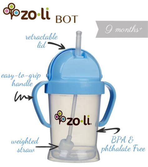 Zoli Straw Sippy Cup Bot 6oz the zoli bot makes on the go a easier