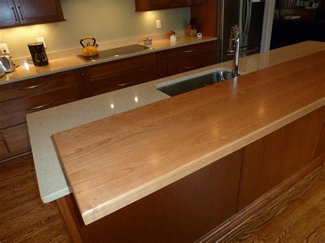 american cherry flat grain countertop southside woodshop