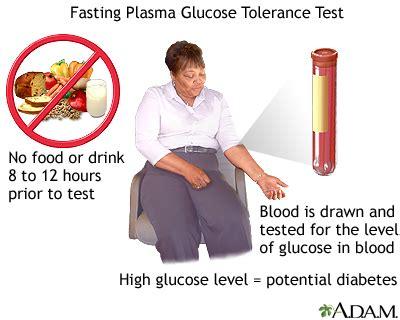 fasting glucose fasting glucose tolerance test medlineplus