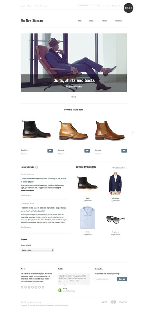 shopify themes new standard new standard shopify s new official theme free html5 mania