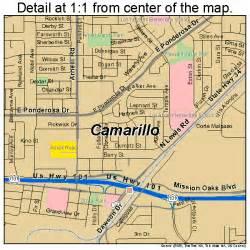 where is camarillo california on a map camarillo california map 0610046