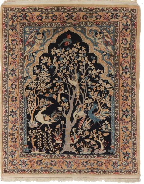 2 X 3 Rugs by 2 X 3 Silk Wool Isfahan Rug 14195