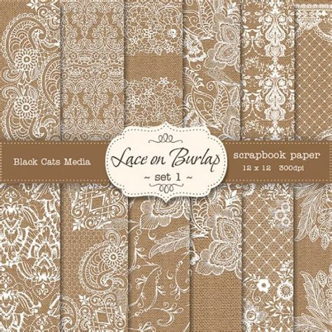 How To Make Paper Lace - burlap and lace digital paper burlap wedding invitation
