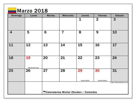 Via Icalendrier 2018 Calendario Marzo 2018 Colombia