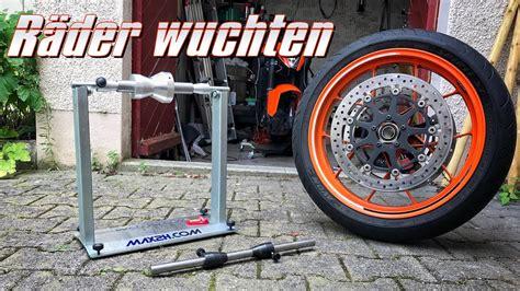 Youtube Motorradreifen Wechseln by Motorrad R 228 Der Selbst Wuchten Mit Wuchtbock