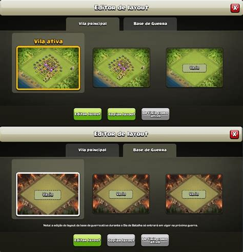 layout editor clash clash of clans atualiza 231 227 o de natal traz novo modo de