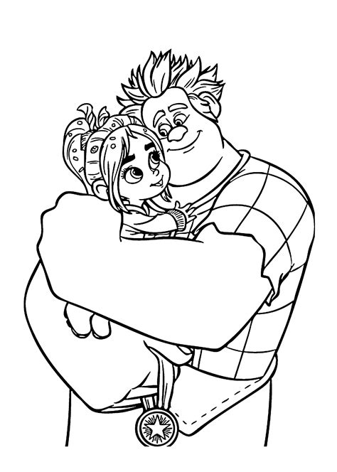 ralph and vanellope coloring pages for kids printable