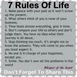 Rules of life pictures photos and images for facebook tumblr