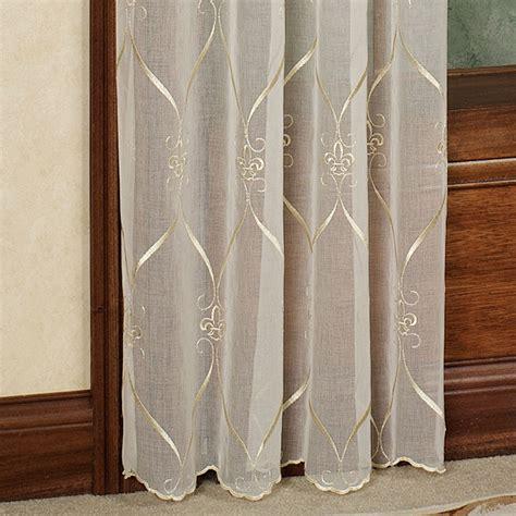 fleur de lis curtains cavalier fleur de lis sheer window treatment by croscill