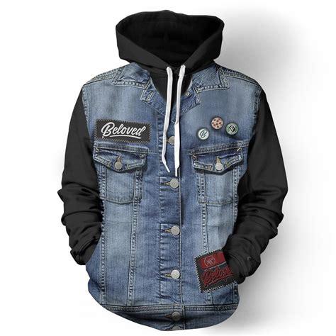 Jaket Hoodie Tgh Black Diskon denim vest black hoodie